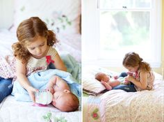 sibling pose - this is so sweet!