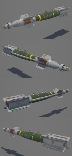 "3D model ""GBU-12 Paveway II"" Laser-Guided Bomb #3Dmodel #3Dartist #Bomb #Guided #Weapons #Collection #3Dsmax #Vray #Frigatez"