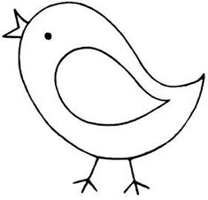 Riscos graciosos (Cute Drawings): Riscos de aves (galinhas patos e pássaros) (Chickens ducks ducklings and birds) Bird Template, Butterfly Template, Stuffed Animals, Stuffed Animal Patterns, Bird Drawings, Easy Drawings, Art For Kids, Crafts For Kids, Easy Coloring Pages