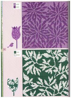 Cross-stitch Floral Background...   Gallery.ru / Фото #1 - 64 - uni4ka