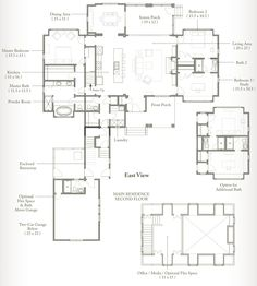 Palmetto Bluff Home Building Tips, Building A House, Building Ideas, Floor Plan Drawing, Palmetto Bluff, Floor Plan Layout, One Story Homes, Story House, Southern Homes