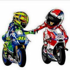 2 ltalian Motorcycle Logo, Moto Bike, Valentino Rossi 46, Bike Photography, Yamaha Motorcycles, Bike Art, Cartoon Pics, Super Bikes, Bike Design
