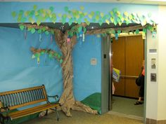 3-D tree w/books hanging (taken from the library at the school where I student taught!)
