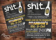 30th Birthday Invitation  Chalkboard Invitation by ReigningParties, $20.00