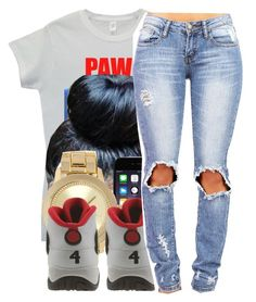"""""""3 hunna ."""" by beautiful-sinnerr ❤ liked on Polyvore featuring Forever 21, Retrò, Swagg, DOPE and trill"""