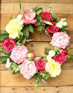 Cottage Wreath ~ Gar
