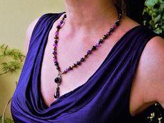 """Collier ethnique """"Intuition and positive mind"""" pour femme des pierres naturelles style bohéme Massage Corps, Intuition, Tassel Necklace, Bracelet, Jewelry, Fashion, Natural Stones, Boho, Unique Jewelry"""