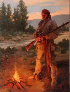 Trapper's Fire by Todd Connor kK Cool Paintings, Cool Artwork, Amazing Artwork, Mountain Man Rendezvous, Wild North, Woodland Indians, Fur Trade, Big Sky Country, American Frontier