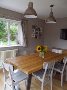 My New Kitchen Dining Room John Lewis Hampton Silver Pendants Asta Chairs