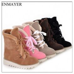 8d8eb4d0e2a26 U.S. Large Size 4-10.5 free shipping new cute style warmth in calf suede  boots