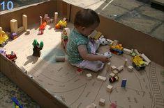 25 formas de reciclar cajas de cartón para que tus hijos se diviertan corral-de-carton-