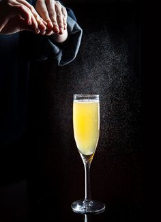 At once bracing, refreshing and thoroughly cold-weather appropriate, Ryan Maybee's In The Pines combines housemade chamomile-infused rye, vanilla syrup and Champagne with herbal génépy.