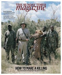 """COVER: David Chancellor's """"Hunters"""" the cover story of The Sunday Times Magazine"""