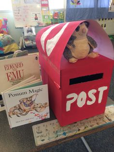 Writing letters to book characters - possum magic in our class post box