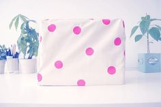 DIY Polka Dots : DIY Polka Dot Sewing Machine Cover