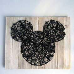 One of our favorite DIYs we've done is our Mickey String wall art. @ashleyadavis created the string art on a board and it looks just so cute and perfect. ❤️ You can find it on our blog!