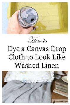 How to Dye Canvas Drop Cloth - The Crowned Goat
