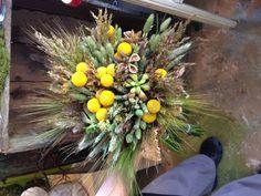 #weddingflowers #weddings www.lavenderhillflorals.com  #Craspedia and #organic