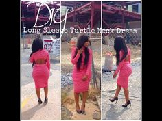 ▶ DIY: Long Sleeve Turtle Neck Dress w/ Cut Outs - YouTube