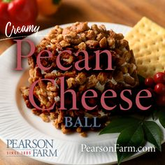 Georgia Peaches (in season) and Pecans, and year-round selection of condiments, gift tins, and cookbooks featuring Southern cuisine. Georgia Pecans, Pecan Recipes, Tin Gifts, Cheese Ball, Waffles, Dips, Appetizers, Peach, Party Ideas