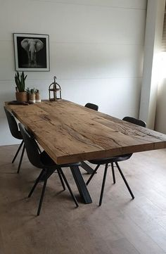 Eettafel Ersya - WoodChoice New Homes, Dining Table, Rustic, Furniture, Home Decor, Ideas, Dining Room Tables, Home, Rustic Table