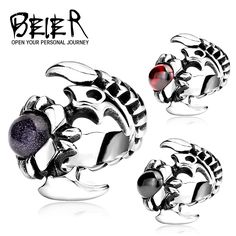 Cool Scorpion Ring Fashion 2016 Stainless Steel Cool Exaggerated Personality Gothc Man's Ring Wholesale Price BR8-032