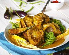 Kari Karing Buntot at Bulalo Filipino Dishes, Filipino Recipes, Asian Recipes, Healthy Recipes, Filipino Food, Ethnic Recipes, Healthy Food, Baby Eggplant, Oxtail Stew