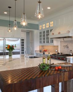 Kitchen, Granite Island, Cutting Block Table: Avgerakis Collaborate + Design + Build: Joe Karman Architecture