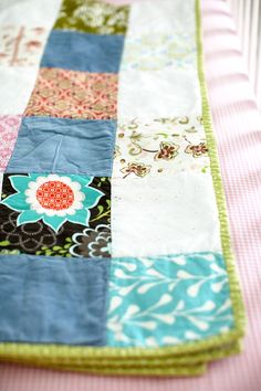 love the idea of having a custom quilt made, having fabric from each family member (piece of a old fav shirt or blanket etc) constructed together to make a security blanket so they're always surrounded by those they love, sentimental and something to be treasured when they get older