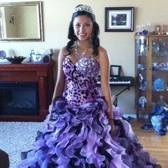 purple Quinceanera dress