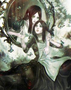 [Alice: Madness Returns] Alice on We Heart It Alicia Wonderland, Dark Alice In Wonderland, Adventures In Wonderland, Copic Drawings, Dark Drawings, Anime Demon, Anime Manga, Alice Liddell, Alice Madness Returns