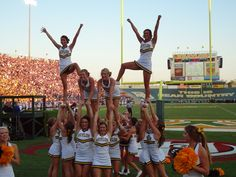 Image detail for -Where I See Sociology: Cheerleading Pyramids Cheer Pyramids, Cheerleading Pyramids, College Cheerleading, Cheerleading Outfits, Cheer Coaches, Cheer Stunts, Franklin College, The Sporting Life, Cheer Hair