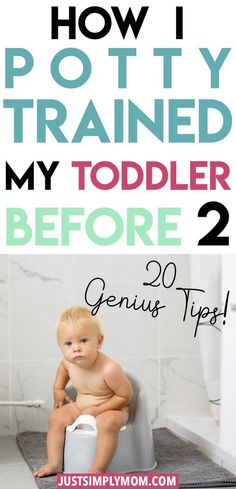23 Tips for Potty Training Your Toddler BEFORE 2 Years Old - Just Simply Mom - Easy toddler activities - Conseils pour Parents Potty Training Rewards, Toddler Potty Training, Training Meme, Training Classes, Start Potty Training, Training Quotes, Training Schedule, Training Collar, Training Videos