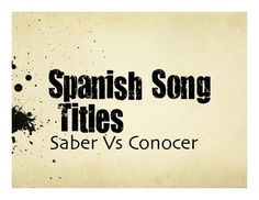 1000 images about spanish saber vs conocer on pinterest a well spanish and language. Black Bedroom Furniture Sets. Home Design Ideas