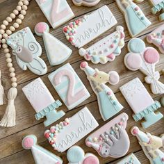 Cookies For Kids, Baby Cookies, Royal Icing Cookies, Birthday Cookies, Sugar Cookies, Cookie Designs, Cookie Ideas, Cookie Tutorials, Spice Cookies