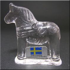 Lindshammar Swedish Glass Horse Paperweight Paper Weights, Horses, Crystals, Glass, Design, Drinkware, Corning Glass, Crystal