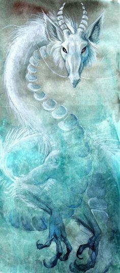Dragon - Bleu Artwork by Nishaa on Indulgy.