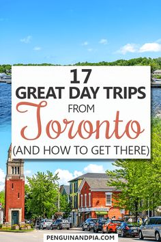 Looking for some great day trips from Toronto, Canada? In this guide, we share some of the best Toronto day trips and exactly how to get there! From quaint towns to wine regions and other attractions, there is something for everyone! Banff, Ontario Travel, Toronto Travel, Travel Destinations, Travel Tips, Travel Ideas, Wasaga Beach, Toronto Island, Reisen In Europa