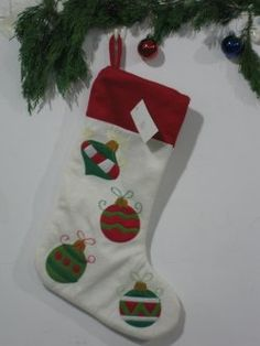 Christmas socks ( white with red edges )