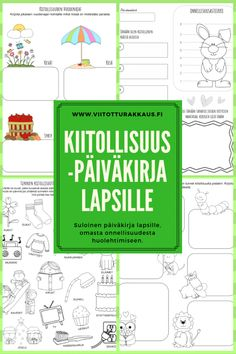 Lasten kiitollisuuspäiväkirja - Viitottu Rakkaus Behaviour Management, Classroom Management, Primary Education, Kids Education, Teaching Religion, English For Beginners, Kindergarten Teachers, Play To Learn, Childhood Education