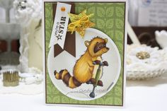 Made by Cindy Hoesel, Whimsy Stamps, Crissy Armstrong, Hopping Raccoon