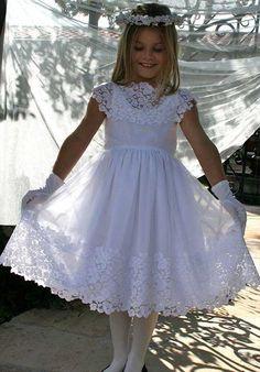 Isabel Garretón Vintage White Flower Girl Dress