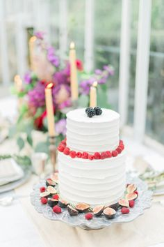 Cake with Berries and Figs | photography by http://www.newburyphotographs.com