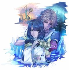 Yuna Final Fantasy, Final Fantasy Artwork, Cg Artwork, Original Artwork, Tidus And Yuna, Dragon Quest, Fantasy Dragon, Looks Cool, Kingdom Hearts