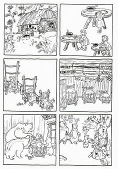 Sequences of 6 images telling classic fairy tales Sequencing Pictures, Story Sequencing, Sequencing Activities, Book Activities, Teaching French, Teaching English, Fairy Tales Unit, Goldilocks And The Three Bears, 3 Bears