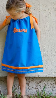 Pillowcase Dress , easy, But, of course, Andrew would want our daughter in Georgia Bulldogs lol.