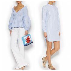 New arrivals ☑️ Платье-туника и рубашка с запахом в голубую полоску Вы сможете найти на DressOne.ru и в нашем шоу-руме #RosevilleSS16