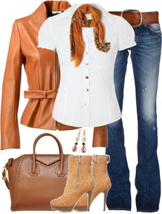 """""""Leather Jacket and Jeans"""" by lmm2nd on Polyvore"""