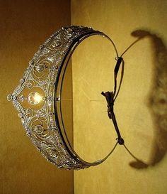 Diamond tiara on display at Mellerio dits Meller, Paris