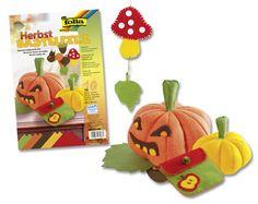 """Der Bastelfilz """"Herbst"""" ist eine nette Ergänzung zur Halloween-Dekoration und kann auch danach noch verwendet werden. Mehr unter http://www.folia.de/epaper/folia_neuheitenkatalog_2015/catalog_4267147/index-sd.html#/18"""